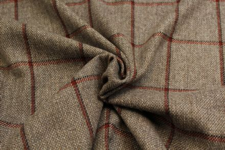 Country Tweed Shadow Windowpane Check Fabric BZ48